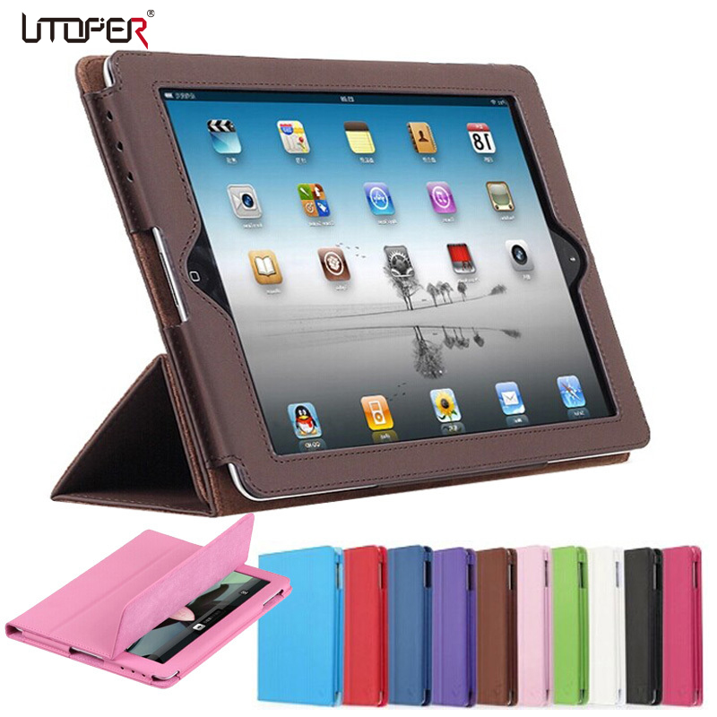 For apple iPad 2 3 4 Official Folding Folio Smart Stand PU Leather Cover for ipad 3 ipad 4 with Retina Display Pouch Bag Case ipad 4 retina в спб