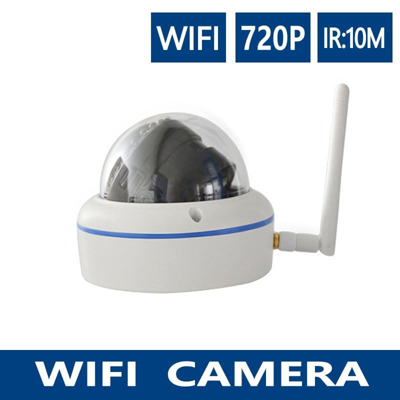 ФОТО YUNAYE 32G SD  720P 1MP Wireless ip dome Camera metal wifi camera security indoor P2P Cloud freeshipping HD onvif Camera