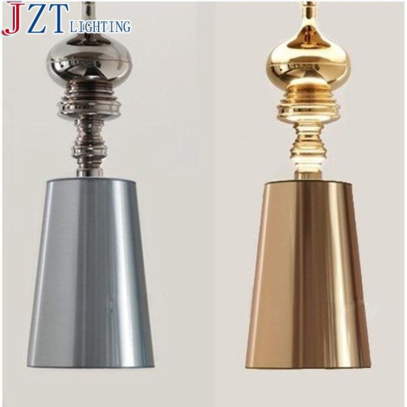 M LED E27 Bulb Modern Minimalist Bedroom Pendant Light Golden/Silver PVC  White/Black Cloth Lamp Shade Spanish Restaurant Light