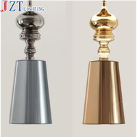 M LED E27 Bulb Modern Minimalist Bedroom Pendant Light Golden Silver PVC White Black Cloth Lamp