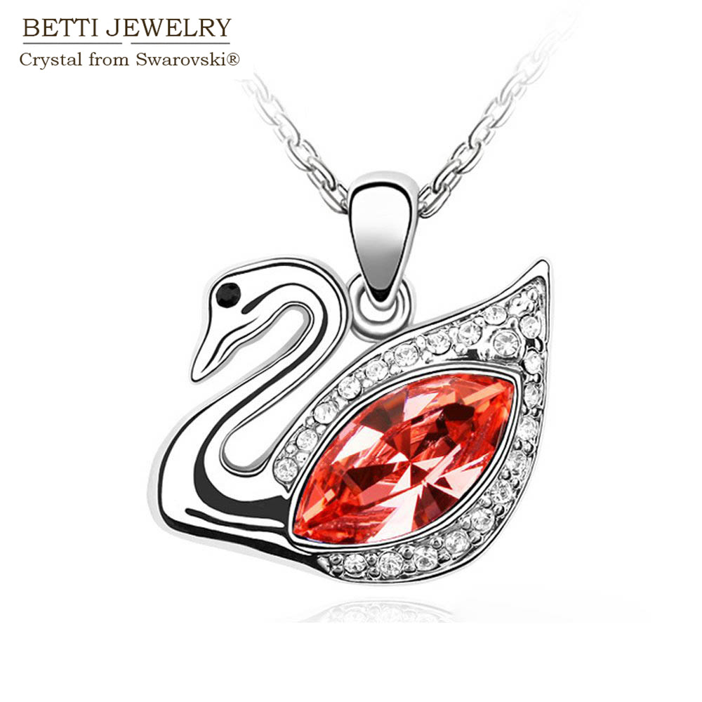 2016 New Charming 6 colors crystal Swan necklace With Crystals from SWAROVSKI for mother's D gift Bijoux Wholesale