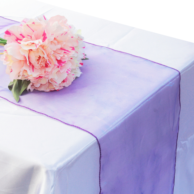 30x275cm Soft Sheer Fabric Organza Table Runner For Wedding Party Banquet Decoration Chair Bows Swag Luxury Black White