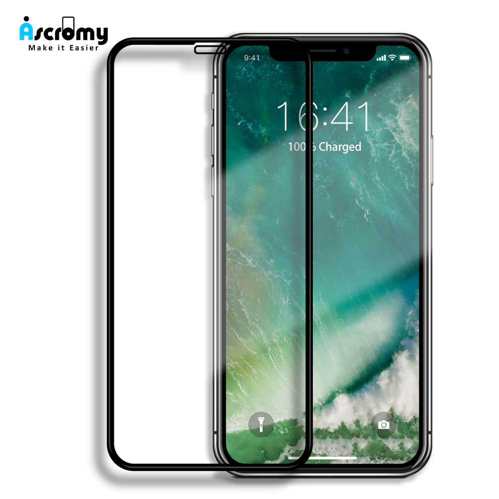 Ascromy For iPhone X XS Max Tempered Glass Screen