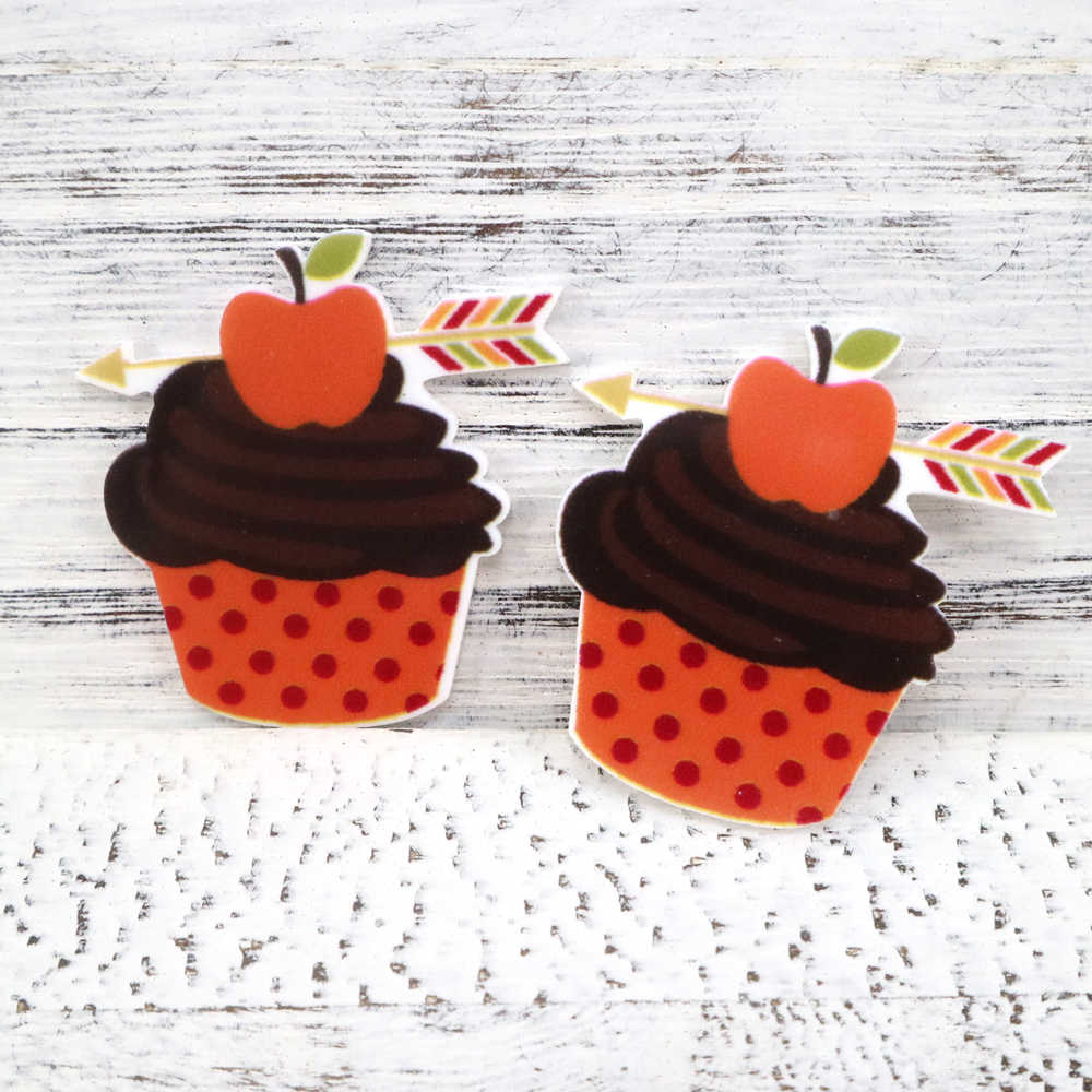 david angie cupcake ice thanksgiving day acrylic Flatback Planar Resin Cabochons 5PCS,DIY Holiday Decorations Materials,5Yc3031