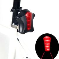 Fashion Cycling Light Bike Bicycle 2 Laser Projector Lamps Beam 5 LED Rear Light Green Blue