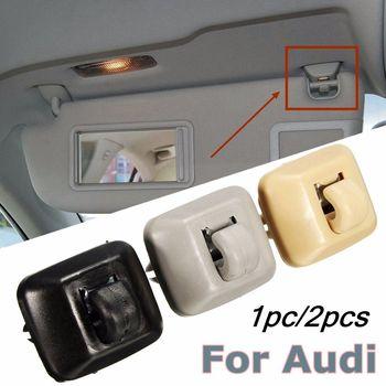 2pcs Black/Grey/Beige Inner Sun Visor Hanger Hook Clip Bracket Fit For Audi A1 A3 A4 A5 Q3 Q5 2013-2015 8E0857562A 8E0857562 1