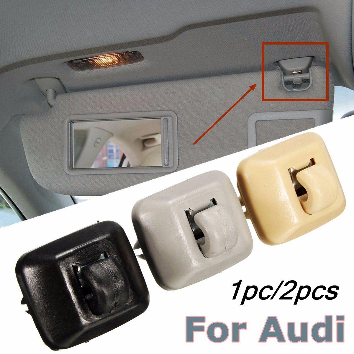 2pcs Black/Grey/Beige Inner Sun Visor Hanger Hook Clip Bracket Fit For Audi A1 A3 A4 A5 Q3 Q5 2013-2015 8E0857562A 8E0857562