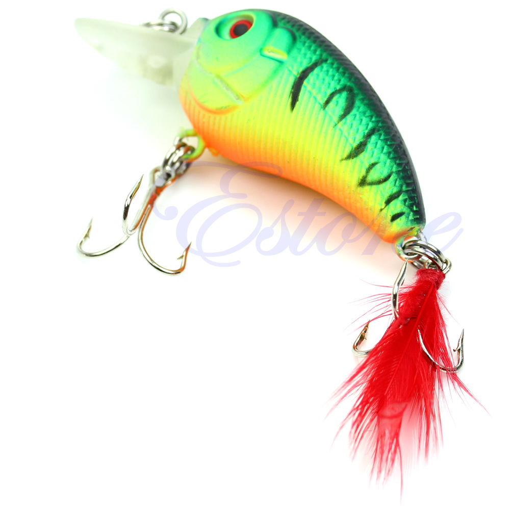 Image 5 - 5pcs 85mm 4g Biomimetic Fishing Lures Crankbait Feather Sharp Hook Tackle Treble Fishing Accessories-in Fishing Lures from Sports & Entertainment