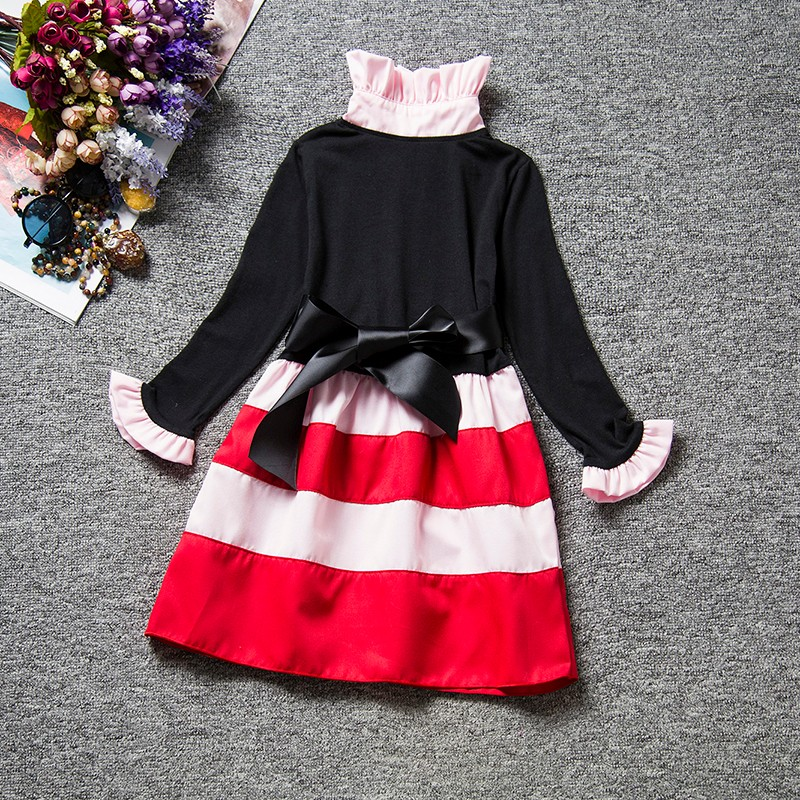 HTB1h.4gdMvD8KJjy0Flq6ygBFXaF Spring Autumn Long Sleeves Children Girl Clothes Casual School Dress for Girls mini Tutu Dress Kids Girl Party Wear Clothing