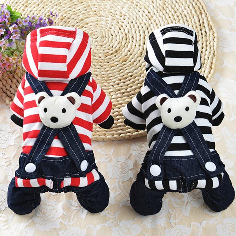 Cute Dog Jumpsuit Îmbrăcăminte Ursul costum de îmbrăcăminte pentru micii câini Moda câine de companie Jumpsuit Dress Yorkie Chihuahua Îmbrăcăminte 30S6
