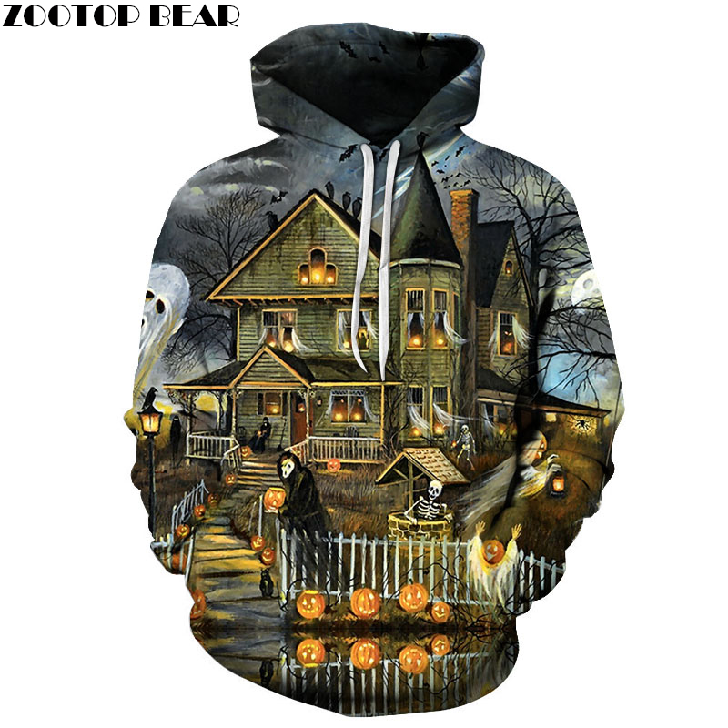 Halloween Sweatshirts Men Hoodies 3d Tracksuit Hooded Clothes Pullover Streetwear Coat Harajuku Clothing Drop Ship ZOOTOP BEAR