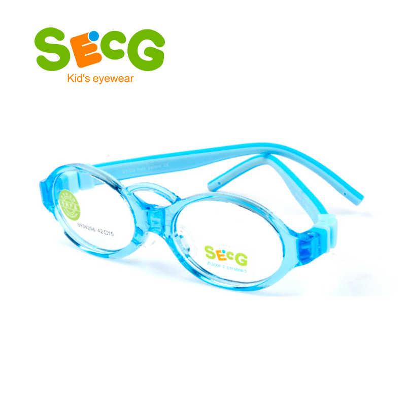 SECG Soft Flexible Kids Frame Toddler Baby Silicone Children Frame Sight Myopia Amblyopia Diopter Eyeglasses Oculos Gafas