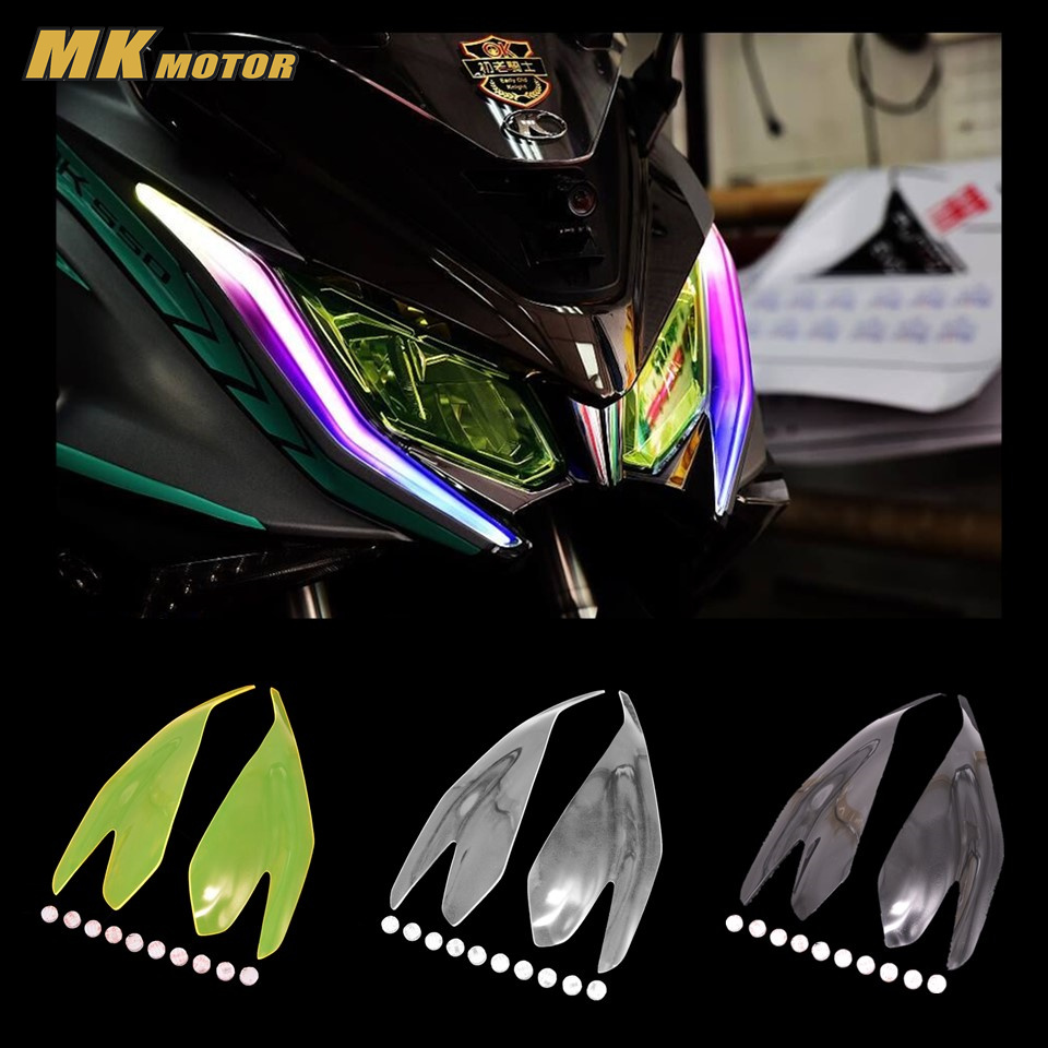 AK 550 Motorcycle Parts Headlight Protector Cover Screen Lens For KYMCO AK550 2017 2018 mtkracing for kymco ak550 motorcycle parts headlight protector cover screen lens ak 550 2017 2018