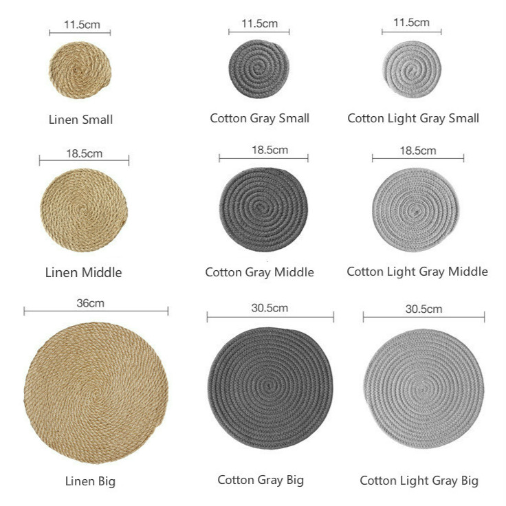 0845f6296de ... Hand-Made  Cotton Linen Knitting Bowl Mats Insulation Pad Or Placemats  ...