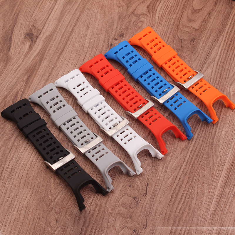 купить Watch Accessories for Suunto 1/2/3 generation replacement strap Waterproof sports silicone bracelet Pine extension AMBIT dedica по цене 766.33 рублей