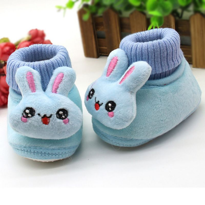 0-18M Baby Girl Snow Boots Mjuka Crib Skor Småbarn Fleece Stövlar Vinter Varm Soft Bottom Slip Skor Booties