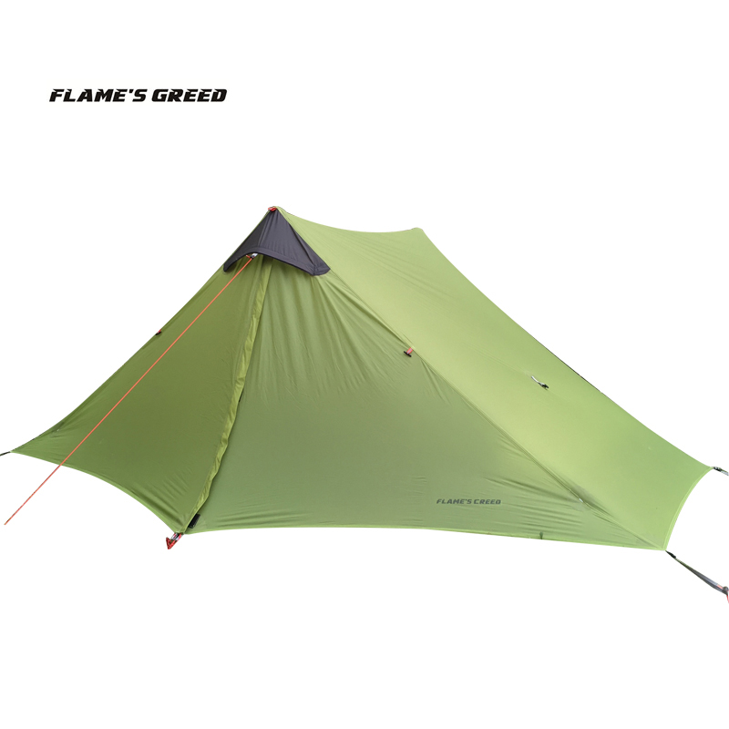 2018 LanShan 2 FLAME S CREED 2 Person Oudoor Ultralight Camping Tent 3 Season Professional 15D