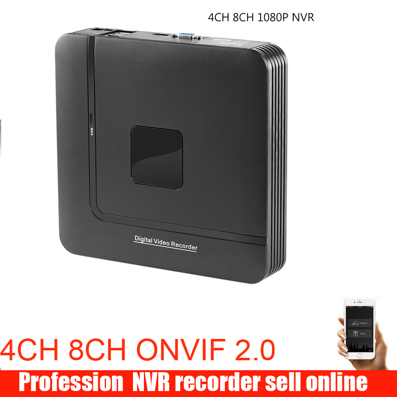 Newest Mini NVR Full HD 4 Channel 8 Channel Security Standalone CCTV NVR 1080P 4CH 8CH ONVIF 2.0 For IP Camera System 1080P