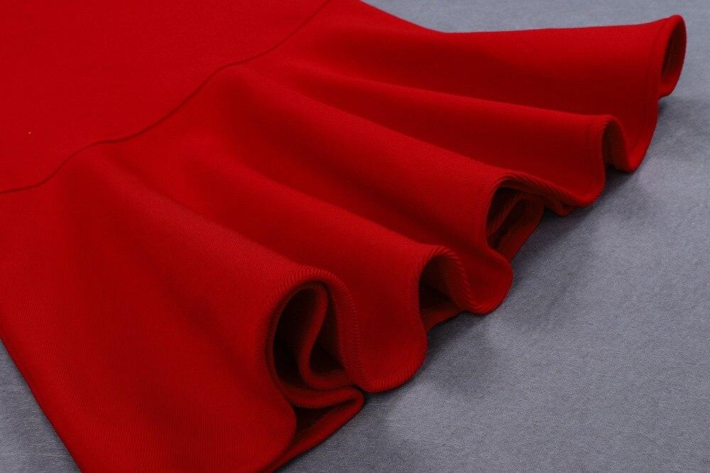 Top qualité Sexy femmes robe rouge débardeur dentelle Ups moulante élégante robe Stretch retour robe de soirée bourgeon - 6