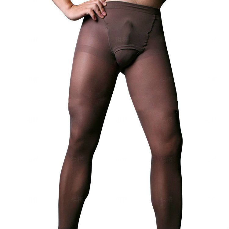 Brand New Sexy Men's Lingerie 80 Deniers Thick Pantyhose Shapers With Fly Men's Pantyhose Mantyhose Tights Leggins