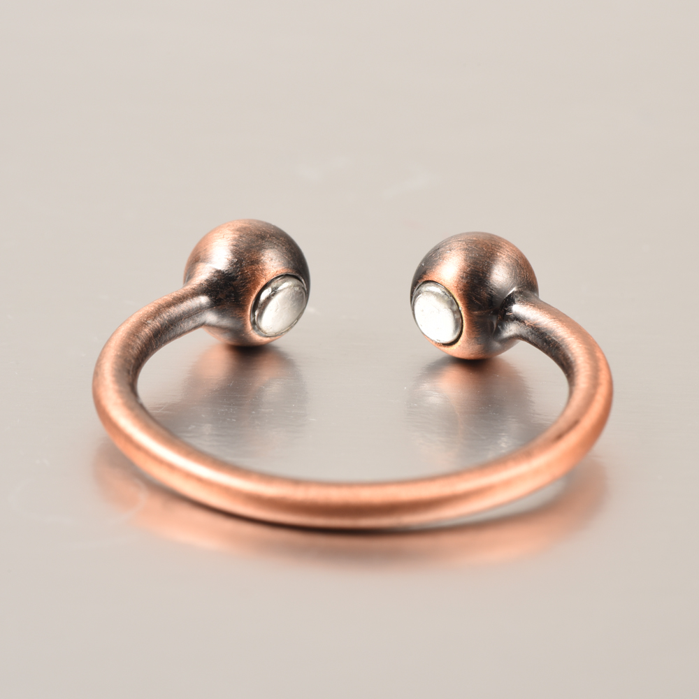 2017new Arrival Wollet Jewelry Adjustable Anti Arthritis Rheumatism Bio Ring Pain Relief Pure Magnetic Copper For Men Women In Rings From