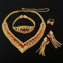 new design jewelry free shipping african gold jewelry sets color guaranteed high quality jewelry set