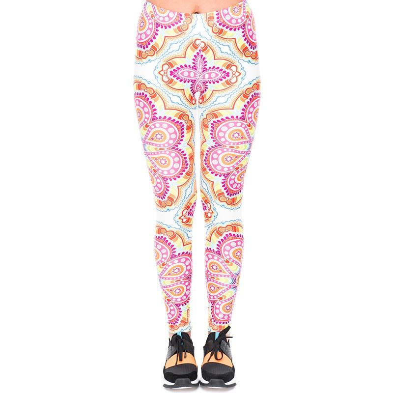Mujer Retro Leggings Tiempo Divertido Mujeres Mandala Stretch Pantalones 2018 52081 De Color Aventura 52082 Las 50YRpZq