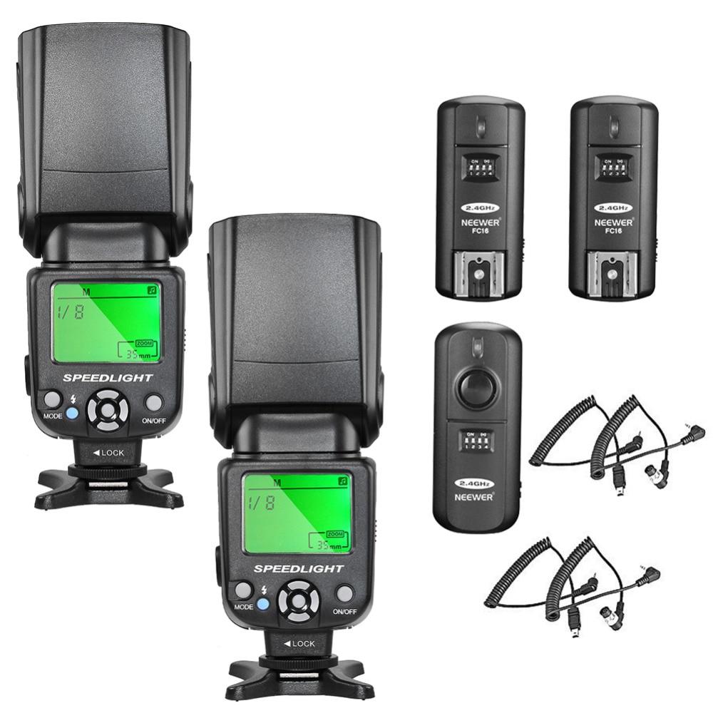 купить Neewer NW-561 LCD Screen Flash Speedlite Kit for Canon Nikon and Other DSLR Cameras по цене 6147.19 рублей