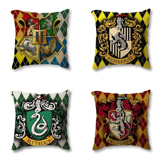 Harry Potter Decorativo Fodere per Cuscini Per Divano Auto Tassorosso Grifondoro
