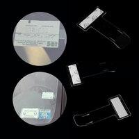 2Pcs Car Vehicle Parking Ticket Permit Holder Clip Sticker Windscreen Window Fastener Stickers Kit Car Accessories Hand Tools Machine Tools & Accessories