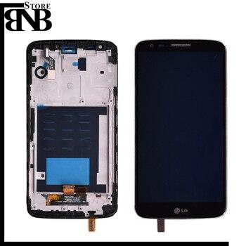 Original pour LG G2 D802 LCD écran tactile + numériseur assemblée avec cadre noir et blanc livraison gratuite