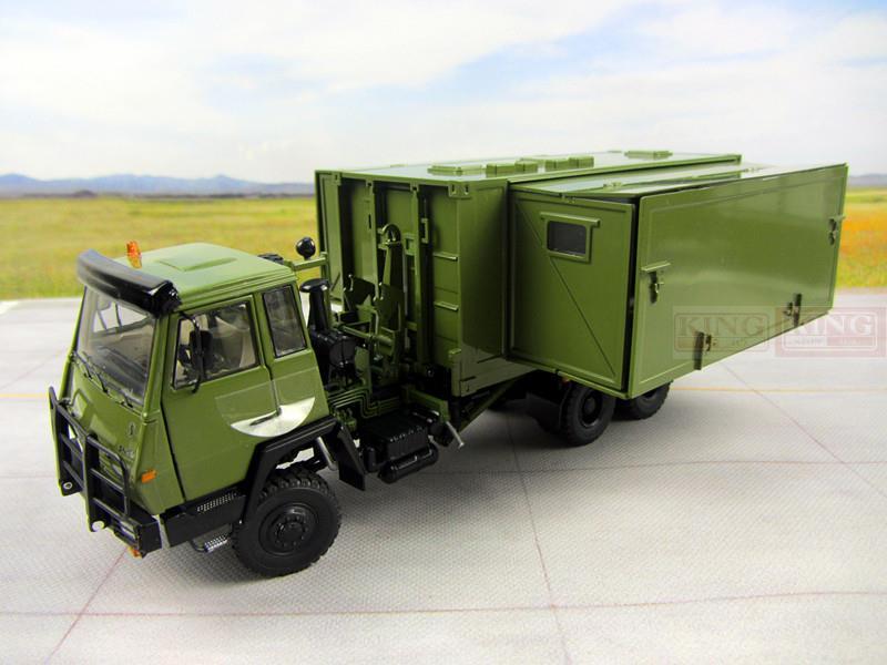 1:43 échelle Steyr Militaire douche camion pour armée Chinoise Militaire Shan Xi Automobile PLA Militaire lourd douche véhicule