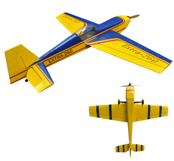 Extra 260 50cc Gas Wooden RC Airplane Model ARF Wood Aircraft 85inch / 2160mm 6 Channels