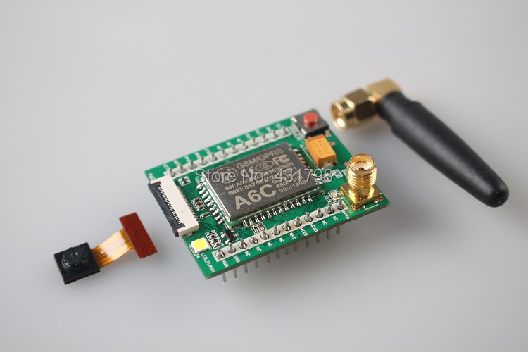 GPRS module + GSM module A6C \ SMS \ voice \ development board \ minimum system board \ wireless mod IOT Artificial Intelligence fast free ship 2pcs lot 3g module sim5320e module development board gsm gprs gps message data 3g network speed sim board