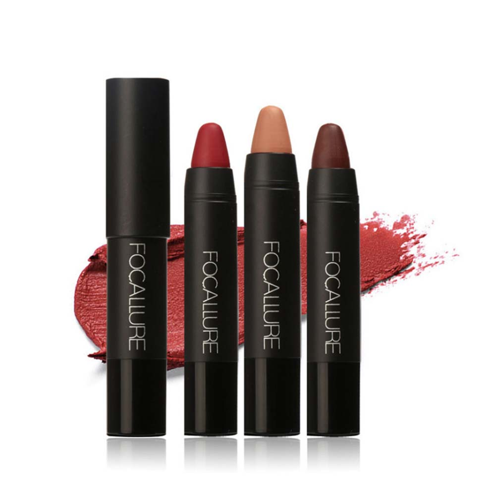 Focallure Women Matte Lipstick Pen Waterproof Long-lasting Cosmetic Nude Lady Lips Makeup Lipsticks H7JP