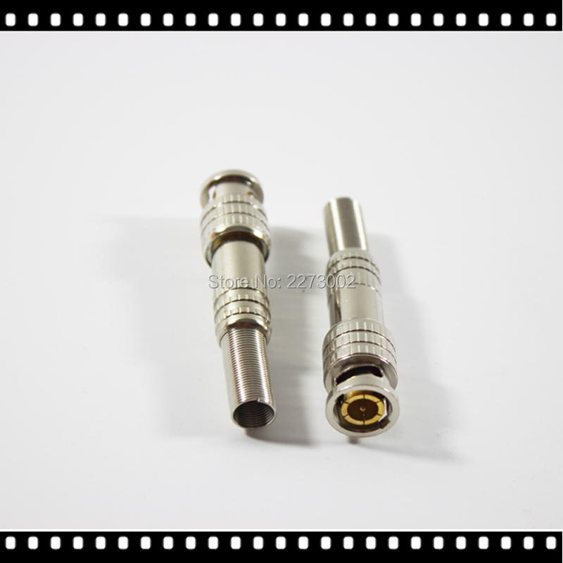 10pcs BNC Male Video Plug Coupler Connector to screw for RG59 Cable Adapter  Camera for Surveillance Accessories evolylcam 25pcs gold bnc male video plug coupler connector to screw for rg59 cable adapter cctv security camera system converter