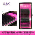 S&C  J B C D CURL Mink Eyelash Extension Nutural Long Individual Lashes 100% Hand Made False Eyelashes