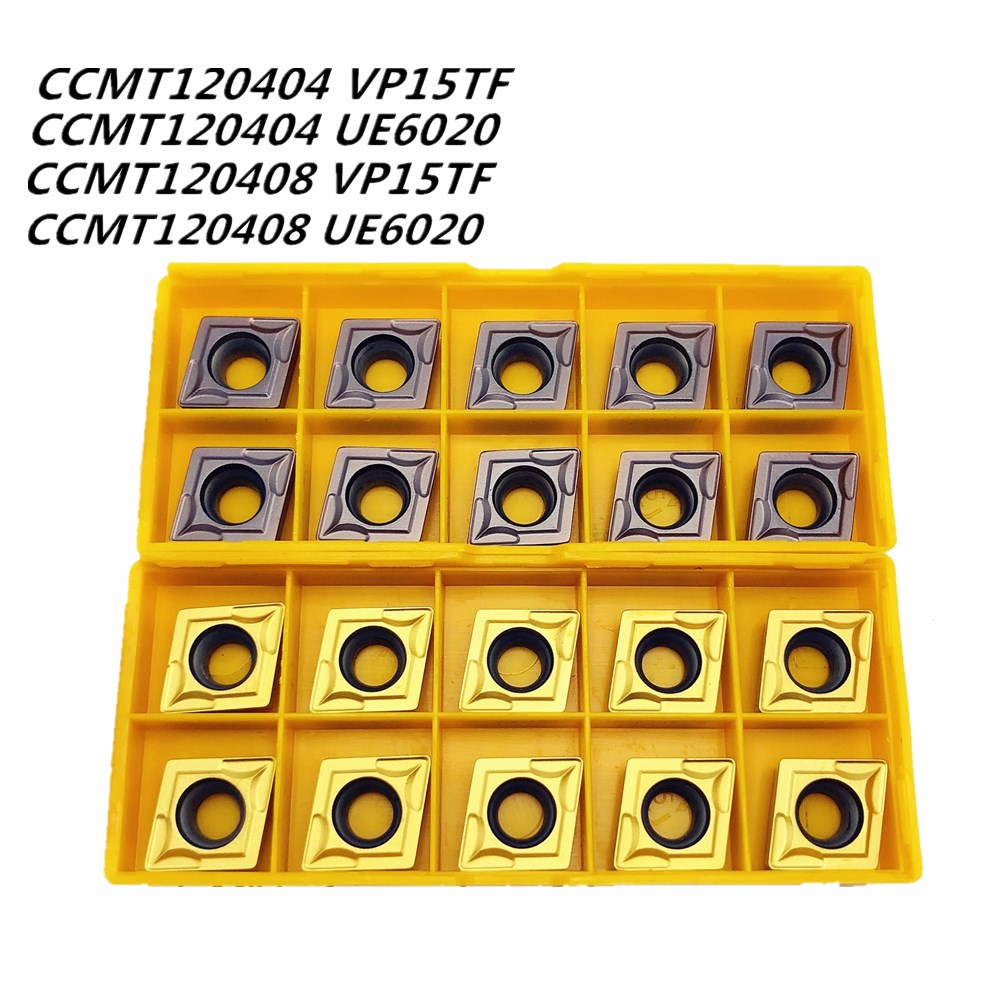 Tungsten Carbide Tools CCMT120404 CCMT120408 VP15TF UE6020 Carbide Insert CNC Metal Turning Insert For Steel Stainless Steel