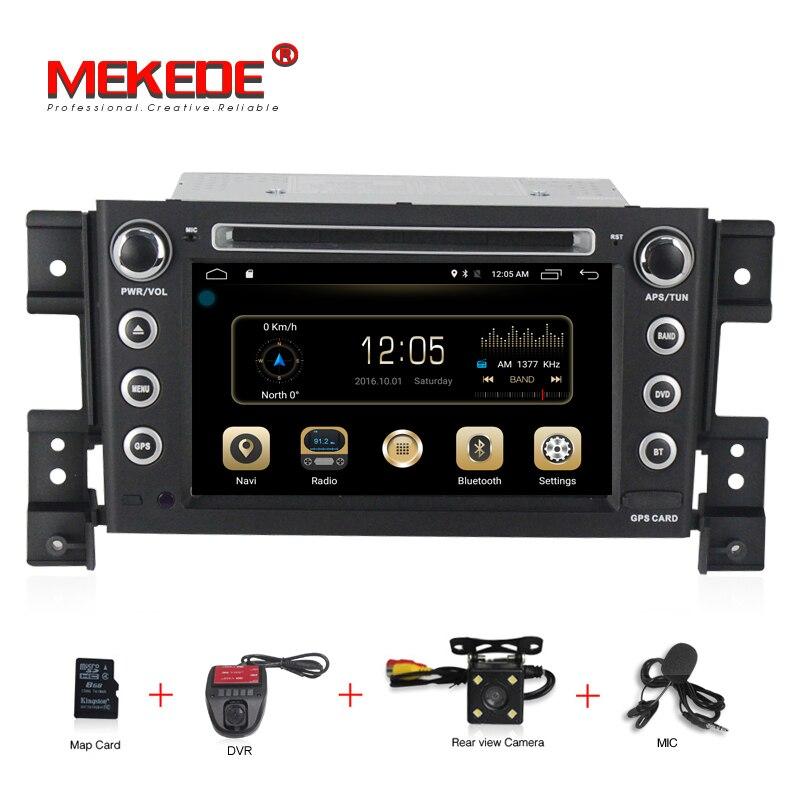 MEKEDE 2g + 16g 2 din android 7.1 dvd de voiture pour suzuki grand vitara multimédia de voiture radio stéréo gps avec volant Soutien 4g