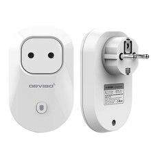 EE. UU./EU/UK/AU Orvibo WiFi Control Remoto Inalámbrico Temporizador Interruptor de Toma de Enchufe de Pared para el iphone IOS Android