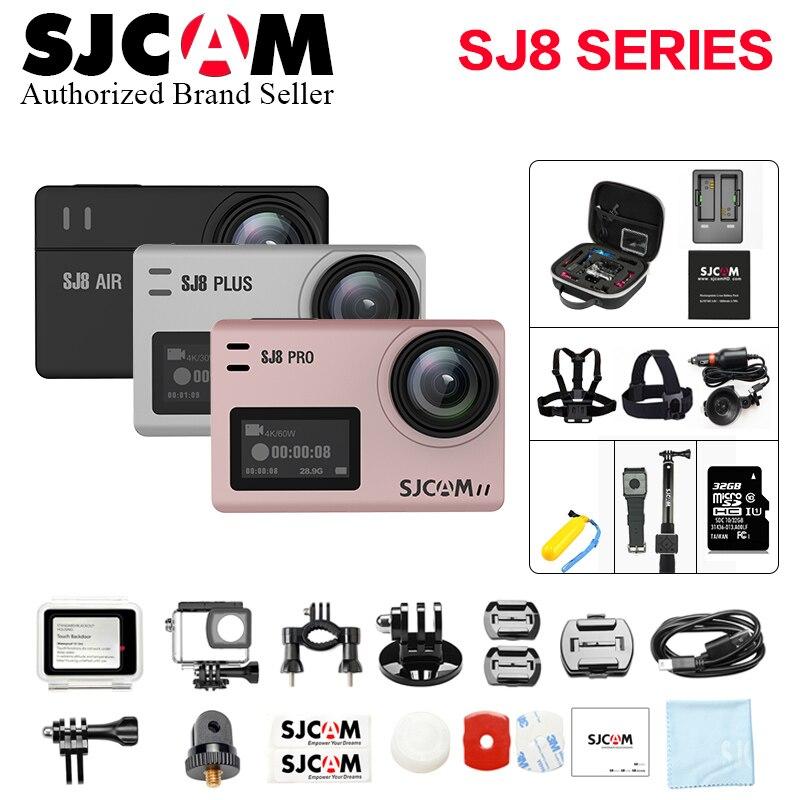 Grande Boîte SJCAM SJ8 Pro & SJ8 Plus & SJ8 Air 4 K 60FPS WiFi À Distance Casque Action Sports Caméra Ambarella H22 Écran Tactile Sport DV