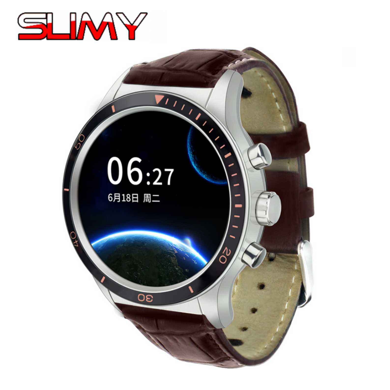 Slimy Y3 Better than KW88 KW99 Smart Watch 3G 4GB ROM 512MB RAM WIFI 1.39 Smartwatch Cell Phone Heart Rate Monitor for Android smart watch s1 android smartwatch heart rate monitor wearable device camera support 3g wifi gps rom 4gb ram 512mb for business