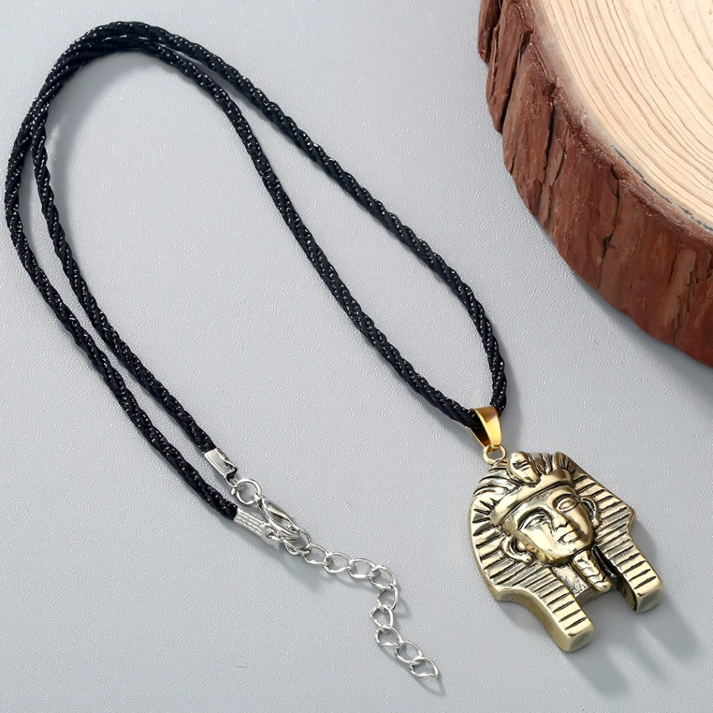 HTB1h.7FSXXXXXbXXpXXq6xXFXXXq - Chandler Pharaoh Pendant Necklace For Men/Women Vintage Egypt Egyptian King Classic Old Jewelry Amulet God Jewelry