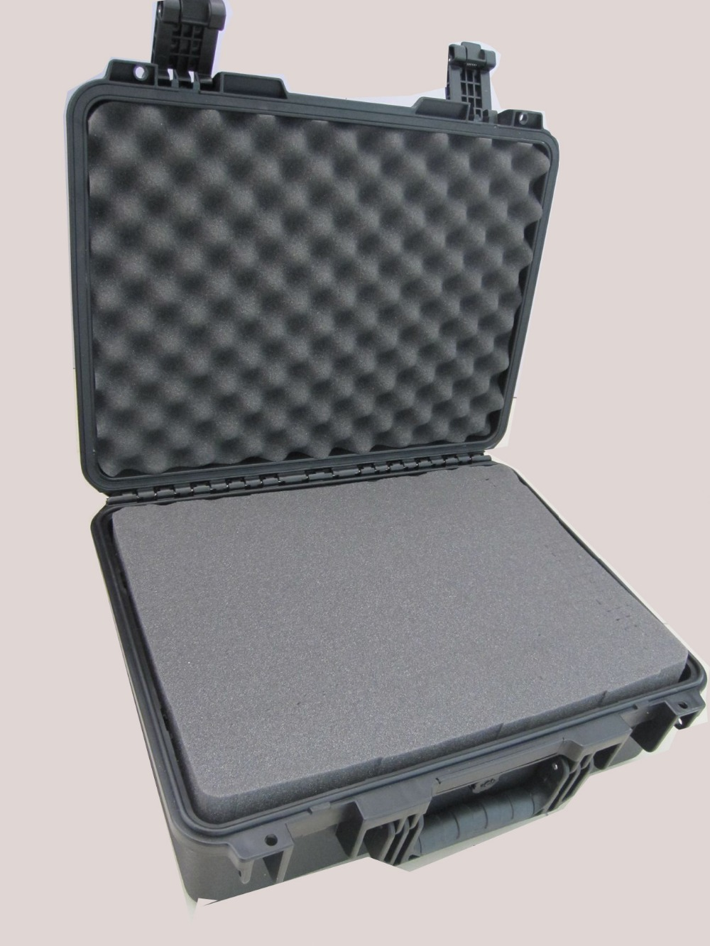 Plastic equipment tool box with pre-cut foam tool case gun suitcase box long toolkit equipment box shockproof equipment protection carrying case waterproof with pre cut foam