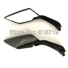 Hohe Qualität Diamant Carbon Schwarz Motorrad Rückansicht Seitenspiegel Motorrad Teil