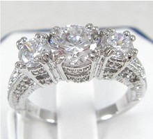 Victoria Wieck Celebrity conception bijoux lady simulé diamant or rempli anneau taille 6 / 7 / 8 / 9 entiers 10kt, Mode anneau