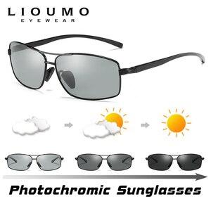 Image 2 - LIOUMO Top Photochromic Sunglasses Men Women Polarized Chameleon Glasses Driving Goggles Anti glare Sun Glasses zonnebril heren