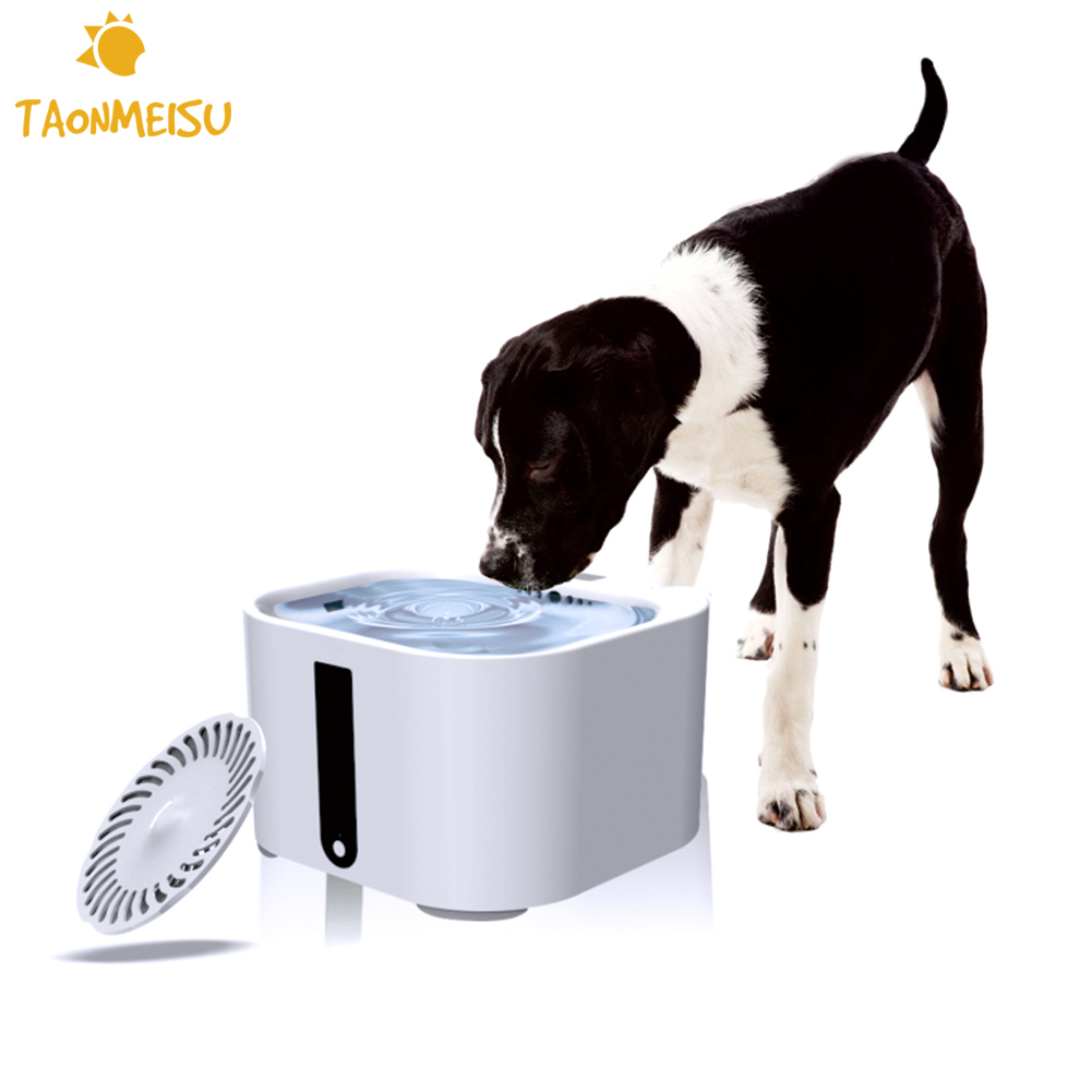 2 L Pet Automatic Water Feeder Programmable Timer Animal Drinker Bowls Water Trays Electronic Pet Water
