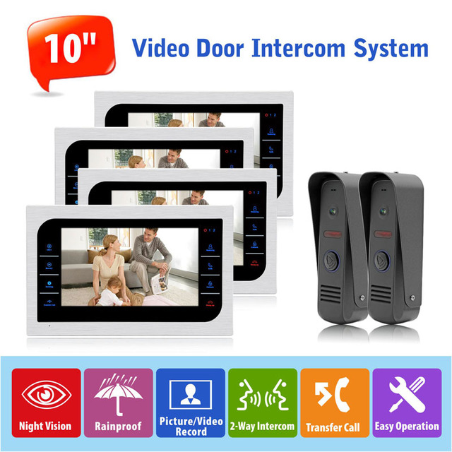 Advanced Video Door Intercom System High Definition Front Door Monitoring  Video Recording System Inter Conversation