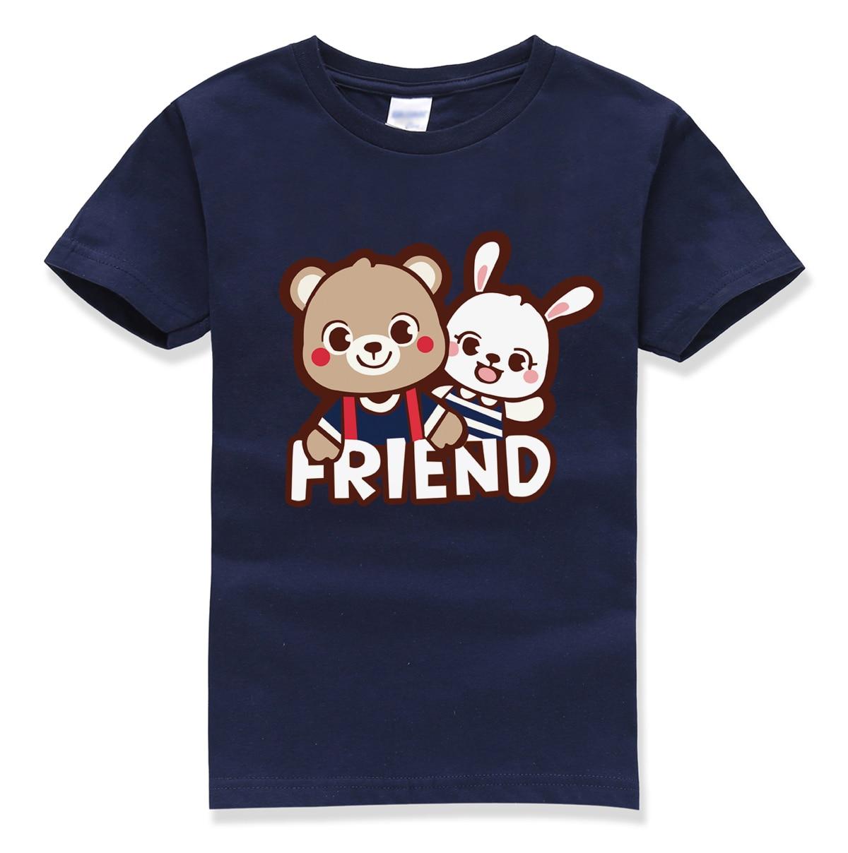 kawaii cartoon animal tops tee shirt kids casual o neck pullovers 2017 summer new fashion t